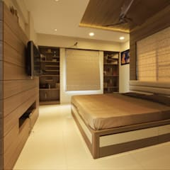 Mr Swapnil Choudhary:  Bedroom by GREEN HAT STUDIO PVT LTD