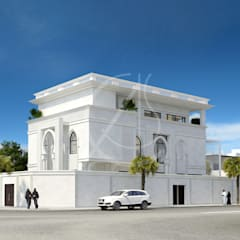 Family Villa Modern Exterior Design:  Villas by Comelite Architecture, Structure and Interior Design