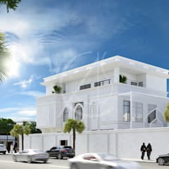Family Villa Modern Exterior Design:  Villas by Comelite Architecture, Structure and Interior Design