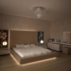 HEBART MİMARLIK DEKORASYON HZMT.LTD.ŞTİ. – Sinpaş lagün İris tip villa iç dekorasyonu: modern tarz Yatak Odası