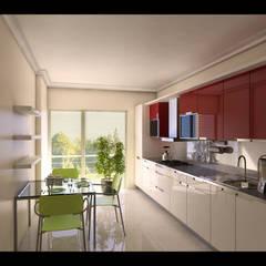 HEBART MİMARLIK DEKORASYON HZMT.LTD.ŞTİ. – Çekmeköy konut projesi:  tarz Mutfak