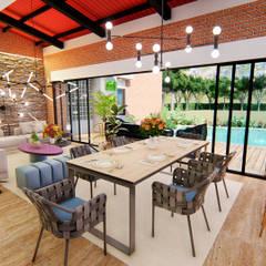 Casa Villa Real: Salas multimedia de estilo  por Conceptual Studio ARQUITECTUR, Moderno Madera Acabado en madera