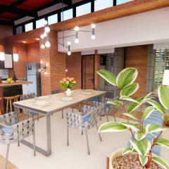 Casa Villa Real: Comedores de estilo moderno por Conceptual Studio ARQUITECTUR