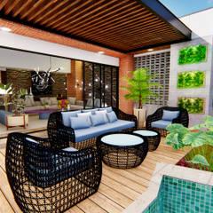 Casa Villa Real: Salas de estilo  por Conceptual Studio ARQUITECTUR