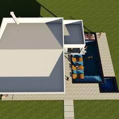 سقف جمالون تنفيذ Maisy Melo Arquitetura e Urbanismo