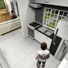 Residencia Formosa: Cozinhas embutidas  por Maisy Melo Arquitetura e Urbanismo