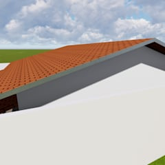 Residencia Formosa: Telhados de duas águas  por Maisy Melo Arquitetura e Urbanismo