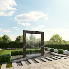 Zen garden by Comelite Architecture, Structure and Interior Design ,