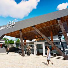 Centro Comercial ALDT 01: Galerías y espacios comerciales de estilo  por Módulo 3 arquitectura