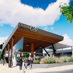 Centro Comercial ALDT 03: Galerías y espacios comerciales de estilo  por Módulo 3 arquitectura