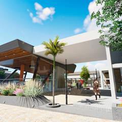 Centro Comercial ALDT 04: Galerías y espacios comerciales de estilo  por Módulo 3 arquitectura