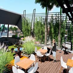 Centro Comercial ALDT 09: Galerías y espacios comerciales de estilo  por Módulo 3 arquitectura