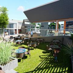 Centro Comercial ALDT 10: Galerías y espacios comerciales de estilo  por Módulo 3 arquitectura