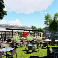 Centro Comercial ALDT 11: Galerías y espacios comerciales de estilo  por Módulo 3 arquitectura