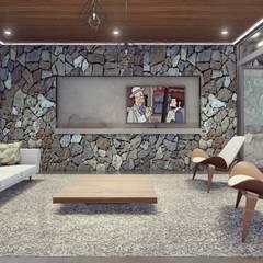 CASA FA 17  | Montecarlo | Misiones: Livings de estilo minimalista por Estudio Tava