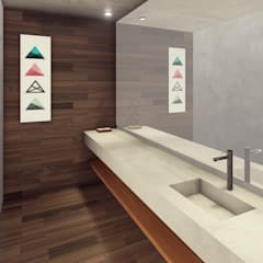 CASA FA 17  | Montecarlo | Misiones: Baños de estilo  por Estudio Tava