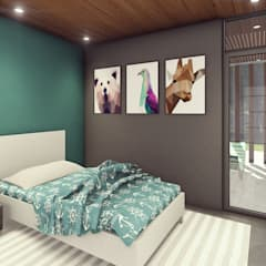 Teen bedroom by Estudio Tava