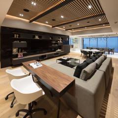 Departamento SS: Salas multimedia de estilo moderno por Concepto Taller de Arquitectura