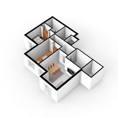 Simulação 3D: Espaços comerciais  por Decodesign