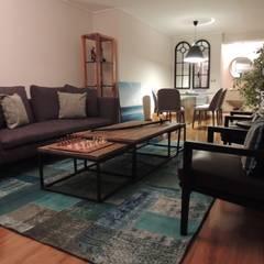 Habilitación de Departamento en Reñaca Viña del Mar por Kaa Interior: Livings de estilo  por Kaa Interior | Arquitectura de Interior | Santiago