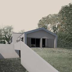 Façade sud volets à pantographes: Maison individuelle de style  par TOPOLOGY