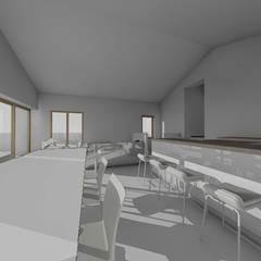 Maison individuelle: Salle à manger de style  par TOPOLOGY