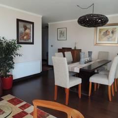 Asesoría de Interiorismos para Departamento en Reñaca, Viña del Mar por Kaa Interior: Comedores de estilo  por Kaa Interior | Arquitectura de Interior | Santiago,
