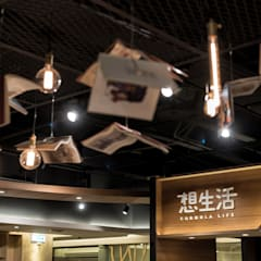 天花板吊飾也以書本為題:  商業空間 by 青易國際設計