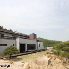경남 하북면 예술인촌 전원주택: 에스디자인의  주택,컨트리