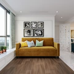 NGÔI NHÀ NUÔI DƯỠNG TÌNH YÊU - Thiết kế căn hộ ấn tượng tại Vinhomes Central Park:  Phòng giải trí by ICON INTERIOR
