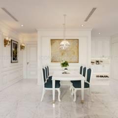 NGÔI NHÀ NUÔI DƯỠNG TÌNH YÊU - Thiết kế căn hộ ấn tượng tại Vinhomes Central Park:  Phòng ăn by ICON INTERIOR