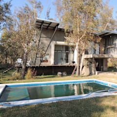 Casa A&P - Vista 5: Piletas de jardín de estilo  por Módulo 3 arquitectura