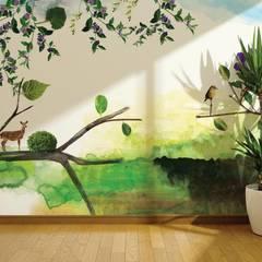 Green Nature : Lojas e espaços comerciais  por House Frame Wallpaper & Fabrics