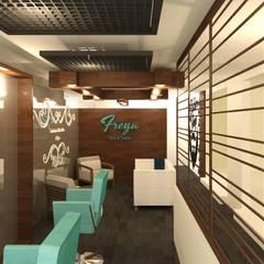 Salon: Spa de estilo  por Perfil Arquitectónico