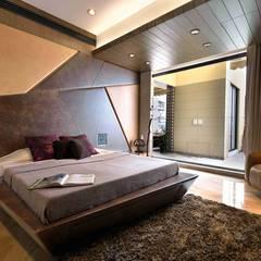 MADHUNIKETAN 9TH FLOOR: modern Bedroom by smstudio