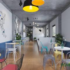 Mẫu thiết kế quán trà sữa HeyTea trên file 3D:  Cầu thang by Home Office