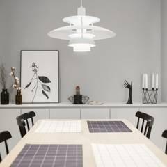 북유럽 감성을 가득 담은 20평대 주택 인테리어: husk design 허스크디자인의  다이닝 룸,북유럽