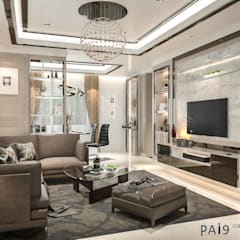 Project : Perfect Park Ratchapruek:  ห้องนั่งเล่น by PAI9 Interior Design Studio