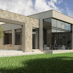 Fachada Oriente: Casas unifamiliares de estilo  por Grupo PAAR Arquitectos