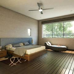 Recámara Principal: Casas unifamiliares de estilo  por Grupo PAAR Arquitectos