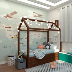 Коттедж в Сургуте: Спальни для мальчиков в . Автор – Гузалия Шамсутдинова | KUB STUDIO, Модерн
