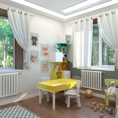 Коттедж в Сургуте: Спальни для мальчиков в . Автор – Гузалия Шамсутдинова | KUB STUDIO