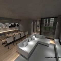 minimalistic Living room by RMA - Rui Mourão Arquitecto Unipessoal Lda