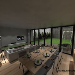 Casa TBSC: Salas de jantar  por RMA - Rui Mourão Arquitecto Unipessoal Lda