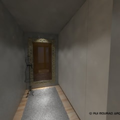 Casa TBSC: Closets  por RMA - Rui Mourão Arquitecto Unipessoal Lda