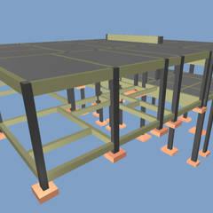 Visão do projeto 3D: Casas do campo e fazendas  por P.GARCIA | Projetos Técnicos