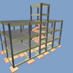 Visão do projeto 3D: Pavimentos  por P.GARCIA | Projetos Técnicos