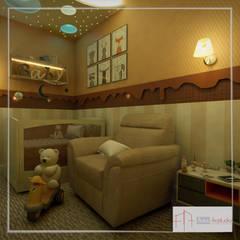 Dormitório de bebê: Quartos de bebê  por Aúra Arqstudio