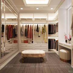Thiết kế căn hộ Gateway Thảo Điền sang trọng và thanh lịch - Phong cách Tân Cổ Điển:  Phòng thay đồ by ICON INTERIOR
