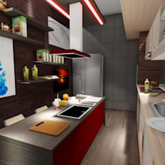 ARS İç Mimarlık – Mutfak Tasarımı:  tarz Multimedya Odası